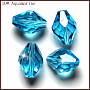 Imitation Austrian Crystal Beads, Grade AAA, Faceted, Bicone, Deep Sky Blue, 8x11mm, Hole: 0.9~1mm