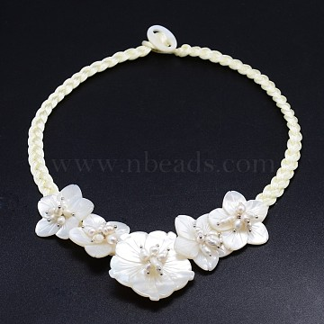 LightGoldenrodYellow Shell Necklaces