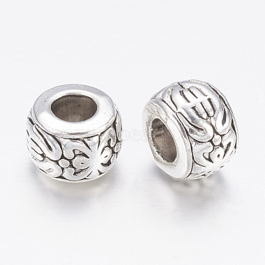 Antique Silver Rondelle Beads(X-AB793)-2