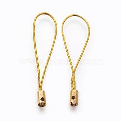 Нейлоновый шнур мобильные ремни, с фурнитурой латунной золотого тона, золотые, 50x4 мм; отверстие: 1.8 мм(MOBA-F005-03G-04)