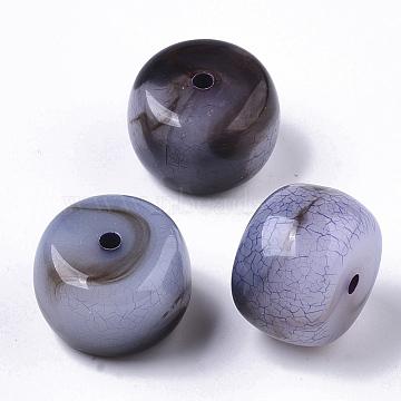 Transparent Crackle Acrylic Beads, Two Tone, Column, MediumPurple, 20x14mm, Hole: 2.5mm; about 126pcs/500g(CACR-N003-03D)