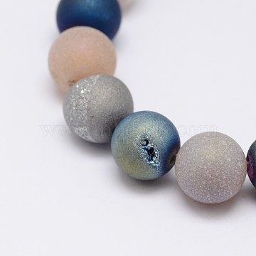 8mm Round Natural Agate Beads