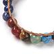 Natural Lapis Lazuli Cord Beaded Bracelets(BJEW-E351-02H)-4