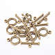 Tibetan Style Alloy Toggle Clasp(X-MLF0539Y-NF)-2