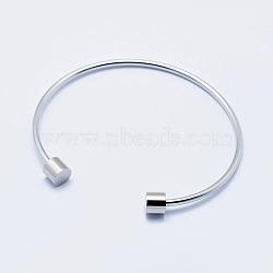экологические 316 из нержавеющей стали манжеты bangle makings, со съемными столбиками, долговечный, нержавеющая сталь цвет, 2-1 / 2 (63 мм)(STAS-I078-02P-NR)