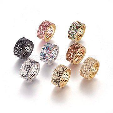 Mixed Color Mixed Color Column Brass+Cubic Zirconia Pendants