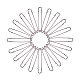 Iron Brooch Findings(IFIN-BC0001-01B)-2