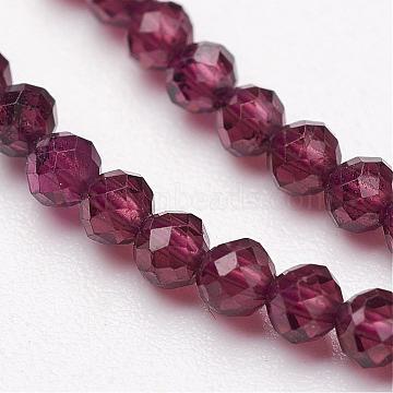 4mm Round Garnet Beads
