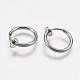 304 Stainless Steel Clip-on Hoop Earrings(STAS-I097-078P)-2
