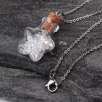 Clear Glass Necklaces