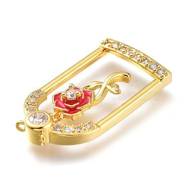 Valentine's Day Theme Brass Micro Pave Clear Cubic Zirconia Pendants(KK-J278-03G)-3