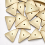 Or Mat Triangle Alliage Perles(X-PALLOY-S117-158)