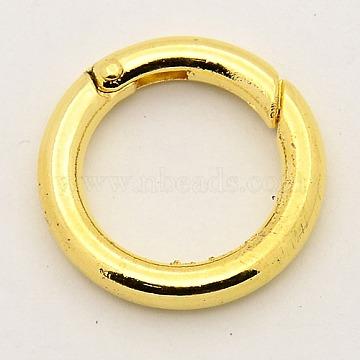 Alloy Spring Gate Rings, O Rings, Golden, 6 Gauge, 24x4mm(PALLOY-M015-01G)