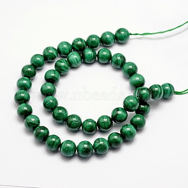 Chapelets de perles en malachite naturelle(G-O152-47-8mm)-2