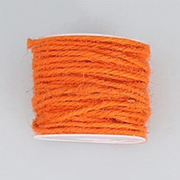 Jute Cord, Jute String, Jute Twine, for Jewelry Making, Orange Red, 2mm, about 54.68 yards(50m)/roll(OCOR-WH0002-A-05)