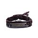 Unisex Trendy Leather Cord Bracelets(BJEW-BB15547-A)-1