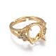 Environmental Adjustable Brass Finger Ring Components(MAK-F030-13G-NR)-2