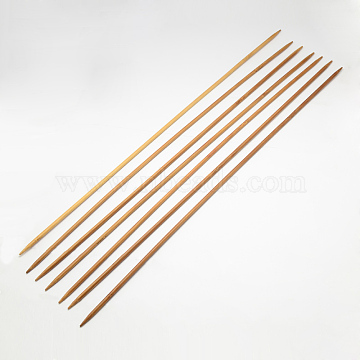 Bamboo Double Pointed Knitting Needles(DPNS), Peru, 400x2.5mm, 4pcs/bag(TOOL-R047-2.5mm)