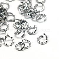 304 кольца прыжок из нержавеющей стали, металлические разъемы для поделок ювелирных изделий и брелка, 18 датчик, 8x1 mm, Внутренний диаметр: 6 mm