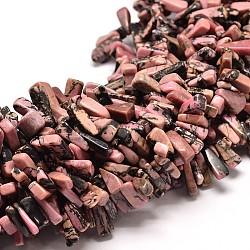 "Pépites de rhodonite synthétiques brins de perles, 11~22x3~8mm, trou: 1 mm; 16""(G-P073-36)"