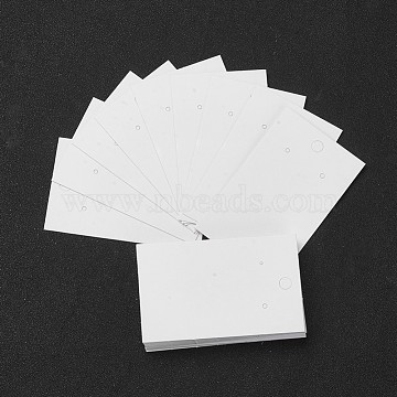 Paper Earring Display Card, Used for Pendants and Earrings, White, 80x50mm(X-JPC043Y-01)