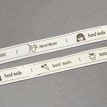 Cartoon Printed Cotton Ribbon, Camel, 5/8 inch(15mm), about 20yards/roll(18.28m/roll)(OCOR-S026-06)