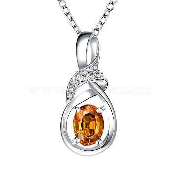 Goldenrod Cubic Zirconia Necklaces