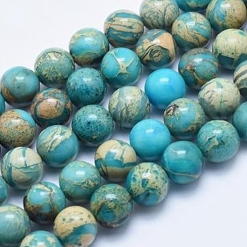 12mm Round Aqua Terra Jasper Beads