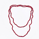 Sea Bamboo Coral(Imitation Coral) Beaded Two-Tiered  Necklaces(X-NJEW-S414-27A)-1