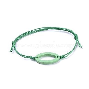Green Waxed Cord Bracelets