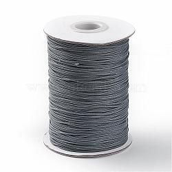 Korean Waxed Polyester Cord, Dark Gray, 1mm, about 85yards/roll(YC1.0MM-A167)