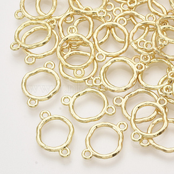 Alloy Links connectors, Ring, Light Gold, 17x12x1.5mm, Hole: 1.4mm(X-PALLOY-S121-224)