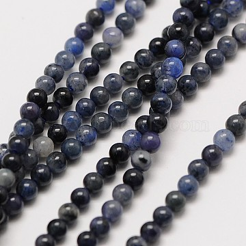 Natural Gemstone Sodalite Round Beads Strands, 2mm, Hole: 0.8mm; about 184pcs/strand, 16inches(X-G-A130-2mm-16)