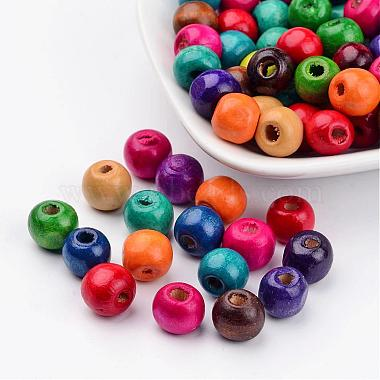 10mm Mixed Color Round Wood Beads