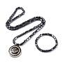 Noir Hématite Bracelets & Colliers(SJEW-I200-01G)