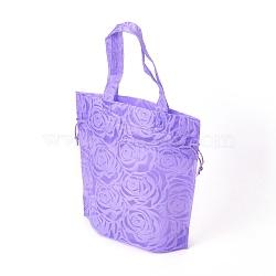 Eco-Friendly Reusable Bags, Non Woven Fabric Shopping Bags, Drawstring Bags, Lilac, 26.8x10x26.8cm(ABAG-L004-S01)