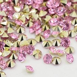 Strass en résine à pointe pointue de grade AAA, forme de diamant, pearlpink, 5 mm; environ 2880 PCs / sac(RESI-R120-5.0mm-23)