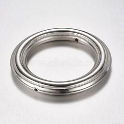 CCB Plastic Bead Frame, Ring, Platinum, 44.5x6mm, Hole: 1mm(CCB-G003-27P)