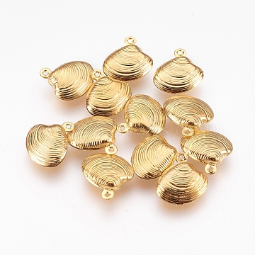 Golden Shell Stainless Steel Charms