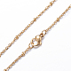 304 Stainless Steel Cable Chain Necklaces(NJEW-F201-01G)-3