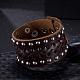 Unisex Fashion Leather Cord Bracelets(BJEW-BB15600-A)-2