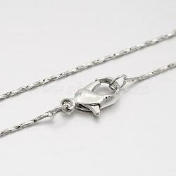"""Laiton chaîne coreana étoffe collier, avec fermoirs mousquetons en laiton  , fine chaîne, platine, 14.9""""(MAK-J009-20P)"""