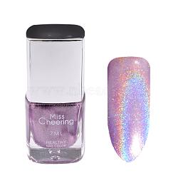 Vernis à ongles brillant au laser, ongles impression de couleur dessin ou modèle, Prune, 7 ml / bouteille(MRMJ-P003-33F)