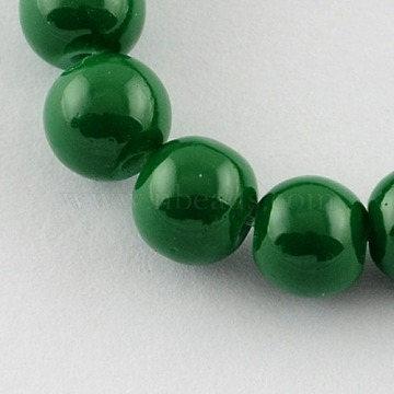 4mm DarkGreen Round Glass Beads