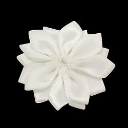 Main tissé blanc accessoires de costumes de fleurs, 37x37x7mm(X-WOVE-QS17-1)