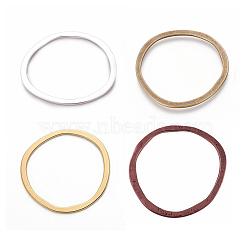 anneaux en alliage de liaison de style tibétain, couleur mélangée, 51x49x1.5 mm(EA13479Y-M)