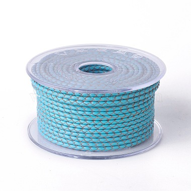 4mm DeepSkyBlue Cowhide Thread & Cord