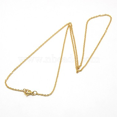 Trendy Unisex 304 Stainless Steel Cable Chain Necklaces(X-NJEW-M047-02)-2