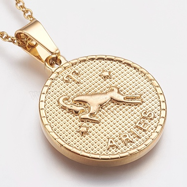 304 Stainless Steel Pendant Necklaces(STAS-I075-02G)-3
