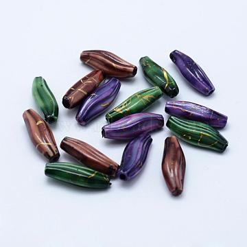 18mm Mixed Color Rice Acrylic Beads